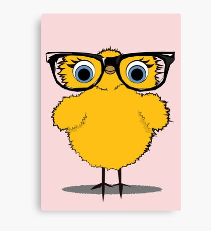 Geek Chic Chick Canvas Print