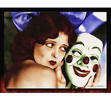 Clara and the Mask Photographic Print