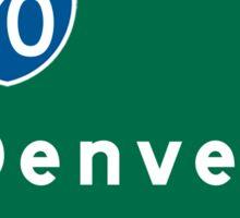 Denver, CO Road Sign, USA Sticker