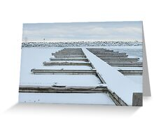 Winter Harbour Greeting Card