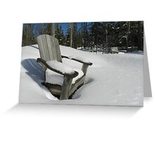 Waiting for the thaw Greeting Card