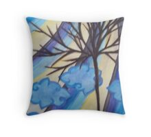 Cool Colors Striped Sky Throw Pillow