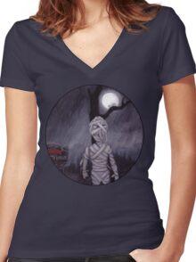 the MUMMY RETURNS Women's Fitted V-Neck T-Shirt