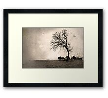 All the weight of the world on my shoulders Framed Print