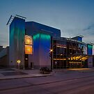 Milwaukee's Marcus Performing Arts Center at dusk  by Sven Brogren