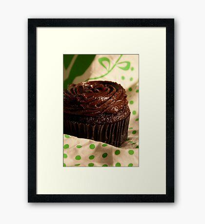 Fudge Cupcake Framed Print