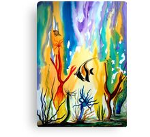 Colours of the Sea Canvas Print