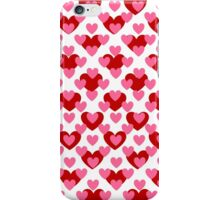 Pretty in Pink Hearts Background iPhone Case/Skin