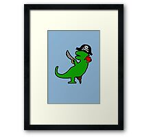 Pirate Dinosaur - T-Rex Framed Print