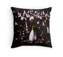 Snow Drop Throw Pillow