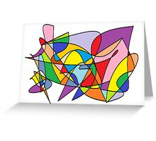 Pieces of Color Greeting Card