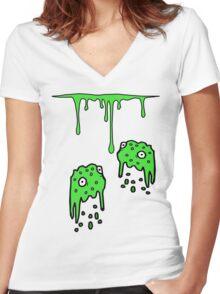 goo  Women's Fitted V-Neck T-Shirt