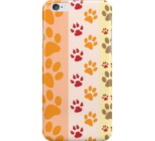 Multi Coloured Paw Print iPhone Case/Skin