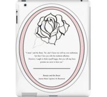 The Magic Rose- Beauty and the Beast fairy tale  iPad Case/Skin
