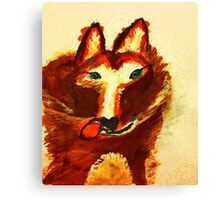 Wolf dog, watercolor Canvas Print