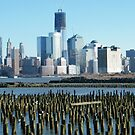 World Trade Center, Lower Manhattan, View from Hoboken, New Jersey by lenspiro