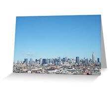Rooftop View of Hoboken, Manhattan Skyline View, As Seen from Jersey City Heights, New Jersey  Greeting Card