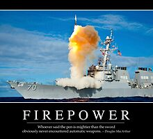 Firepower: Inspirational Quote and Motivational Poster by StocktrekImages