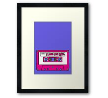 I love the 80's - pink tape Framed Print