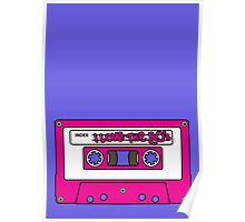 I love the 80's - pink tape Poster