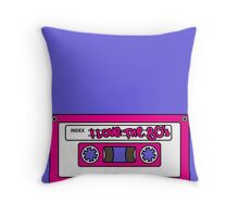 I love the 80's - pink tape Throw Pillow