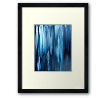 blue rain on the window of life Framed Print