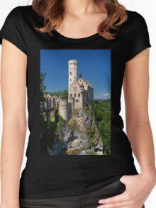 Lichtenstein Castle Women's Fitted Scoop T-Shirt