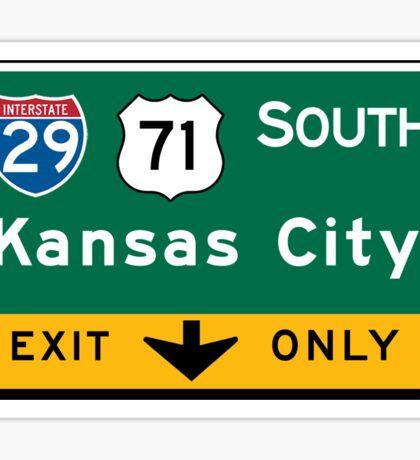 Kansas City, MO Road Sign, USA Sticker