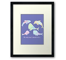 Pastel Whales - save the whales! Framed Print