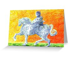 he rides a white horse Greeting Card