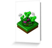 Isometric island frame - Pig Greeting Card