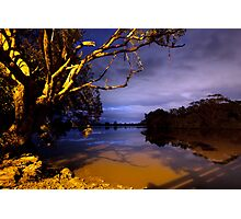 MOONLIGHT BENDS OVER THE BLACK SILENCE Photographic Print