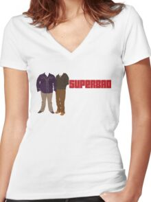 Superbad Women's Fitted V-Neck T-Shirt