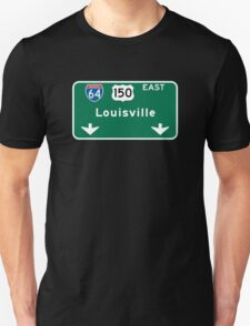 Louisville, KY Road Sign, USA T-Shirt