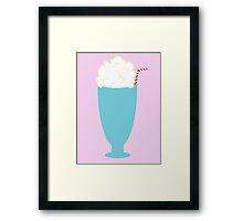 Cute Minimalist Milkshake Design Framed Print