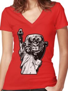 War On Tourism Women's Fitted V-Neck T-Shirt