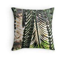 Cycad Fronds Unfurling Throw Pillow