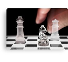Chess 101: The knight moves to put the king in check Canvas Print