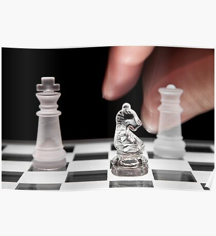 Chess 101: The knight moves to put the king in check Poster