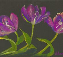 parrot tulips dance by Elena Malec