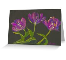 parrot tulips dance Greeting Card