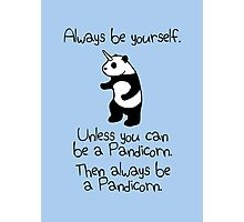Always Be Yourself, Unless You Can Be A Pandicorn Photographic Print