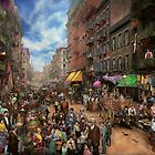 City - NY - Flavors of Italy 1900 by Mike  Savad