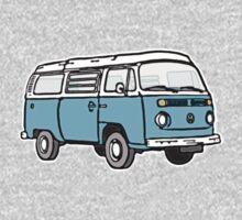 Bay Window Campervan Blue One Piece - Long Sleeve