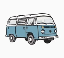Bay Window Campervan Blue One Piece - Long Sleeve