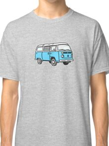Bay Window Campervan Blue Classic T-Shirt