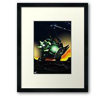 Hunter at night  Framed Print