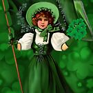 GATHERING SHAMROCKS IN A FROCK ALL MADE OF GREEN  by  Bonita Lalonde