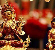 tara and shakyamuni. melbourne by tim buckley | bodhiimages