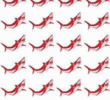 red shark of australia pattern by nadil